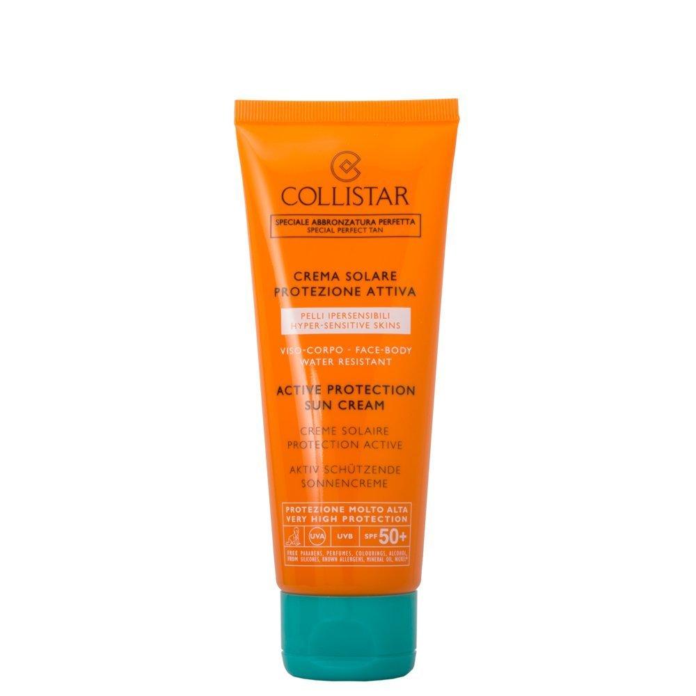 Crema solare Collistar per pelli ipersensibili e per la protezione del collo dalle rughe da smartphone