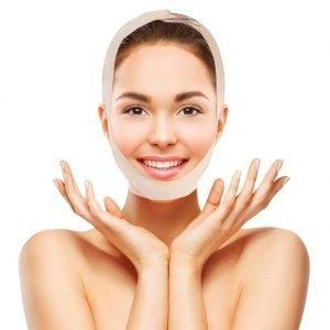 Maschera dimagrante per il lifting facciale e il collo sodo e tonico
